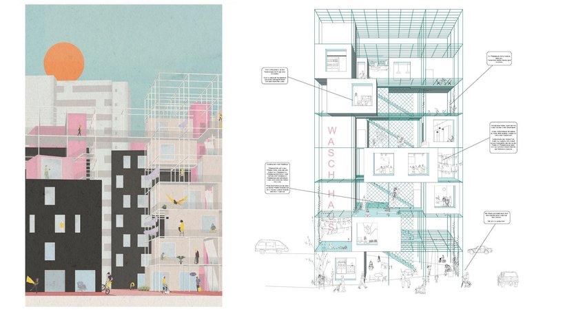 Architekturzeichnung von Jan Kandzia